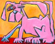 Pink-Dog-oil-canvas-16x20