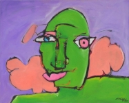 Woman-with-Cloud-oil-on-canvas-16x20