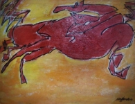 small-study-2-Red-Horses-9.5x7.25-oil-wood-string
