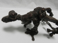 "Leaping Frog, bronze, 4"" x 5"" x 7.5"", edition of 25, $1,090"