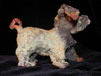 "Large Dog, bronze, 10"" x 6"" x 5"", edition of 25, $1,575.00"