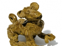 "Monkey, bronze, 4.75"" x 6.25"" x 2.5"", edition of 25, $1,090"