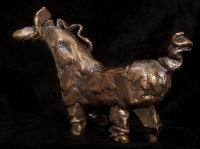 "Ribbon Horse, bronze, 6.5"" x 4.25"" x 2.5"", edition of 25, $1,090.00"