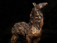 "Rough Horse, bronze, 4.5"" x 4.5"" x 2.5"", edition of 25, $1,200.00"