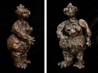 "Woman, bronze, 9"" x 5.5"" x 2.5"", edition of 6, $1,600"