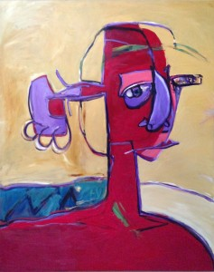 Red-Head---oil-canvas--36x60