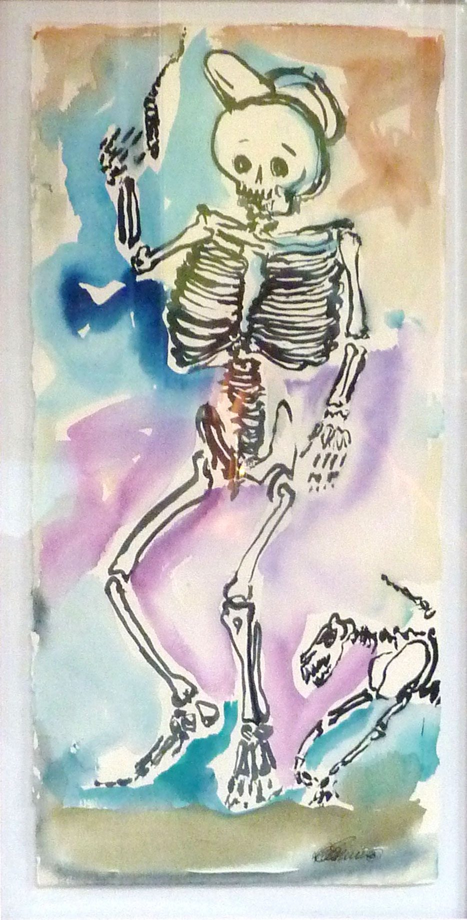 Skeleton-with-a-Cigar--7x15-wc
